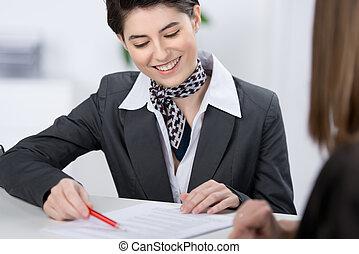 Customer services representative - Beautiful stylish young ...