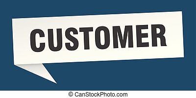 customer speech bubble. customer sign. customer banner