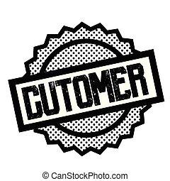 customer stamp on white background. Sign, label sticker