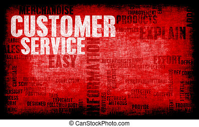 Customer Support and CS Service Industry Art