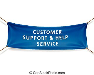 customer support and help service banner