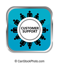 Customer support button