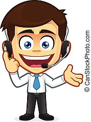 Clipart picture of a customer support cartoon character