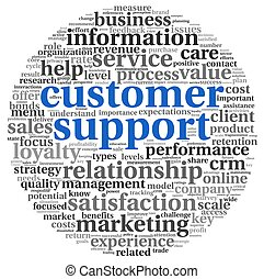 Customer support concept on white - Customer support concept...
