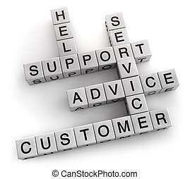 Customer Support - Customer support service crossword. ...