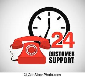 customer support design, vector illustration eps10 graphic