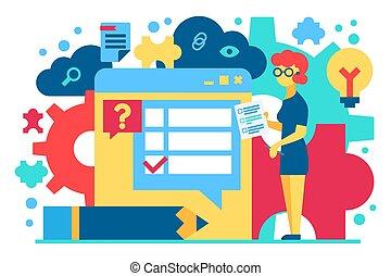 Customer support flat vector illustration