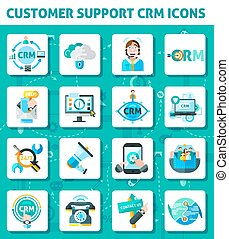 Customer Support Icons Set