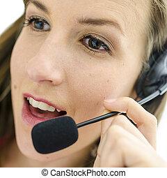 Customer support operator - Portrait of female customer...