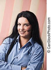 Customer support operator - Portrait of beautiful customer...