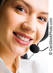 Customer Support Representative - Face of attractive...