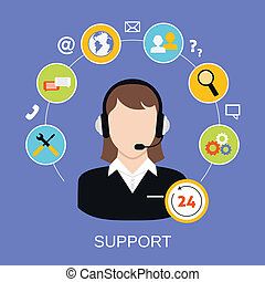 Customer Support Service - 24h online worldwide available...