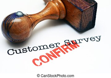Customer survey - confirm