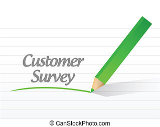 customer survey message illustration design