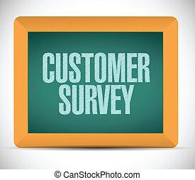 customer survey message illustration design