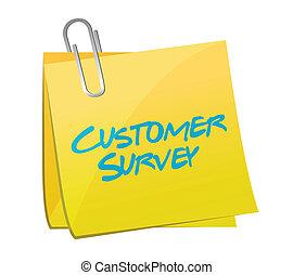 customer survey post illustration design