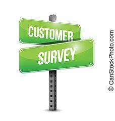 customer survey sign illustration design