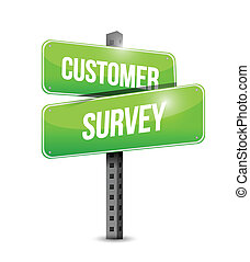 customer survey sign illustration design