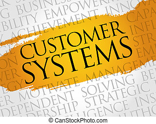Customer Systems word cloud