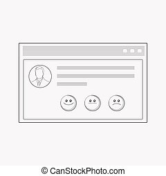 Customer testimonials icon line element. Vector illustration of customer testimonials icon line isolated on clean background for your web mobile app logo design.