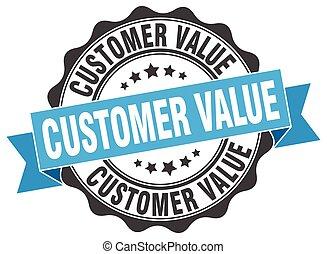 customer value stamp. sign. seal