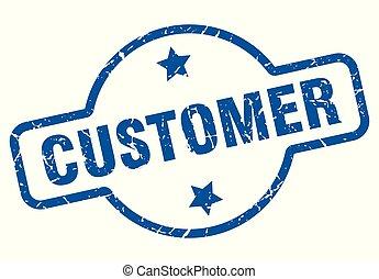 customer vintage stamp. customer sign