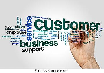 Customer word cloud concept