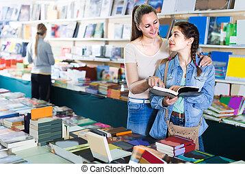 Customers are choosing books