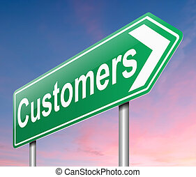 Customers concept.