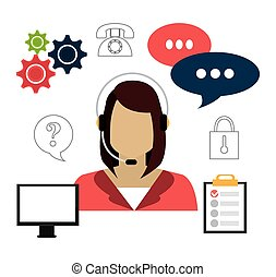 Customers design. - Customers design over white background, ...