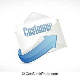 customers mail illustration design