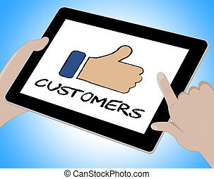 Customers Online Means Internet Shopper 3d Illustration
