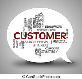 Customers Online Means Internet Shoppers 3d Illustration