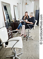 Customers Waiting At Hair Salon