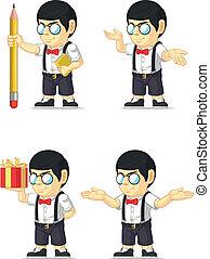 customizable, 男の子, nerd, マスコット