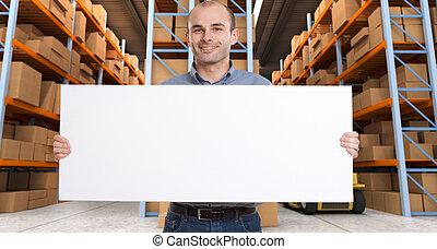 Customizable Announcement at warehouse b