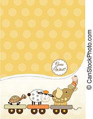 customizable, bebé, tarjeta