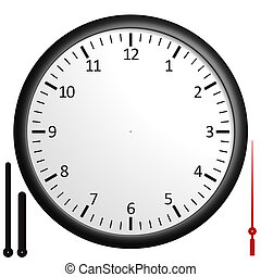 Customizable blank clock - Customizable clock with separated...