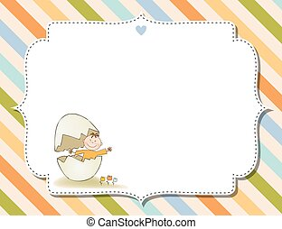 customizable childish background for baby shower...