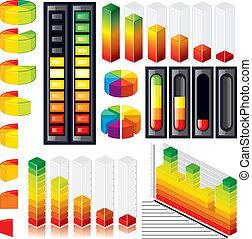 customizable, gráficos, escalas