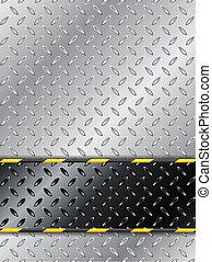 Customizable industrial background design with metallic ...