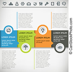 Customizable Infographic Vector Template with Icon Set