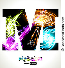 customizable, licht, vector, effect, brief