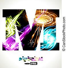 customizable, luz, vector, efecto, carta