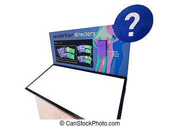 Customizable Mall Floor Directory - An over white mall floor...