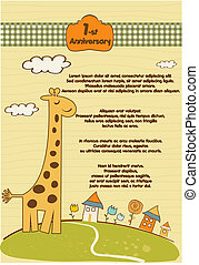 customizable, schattig, weinig; niet zo(veel), giraffe, achtergrond