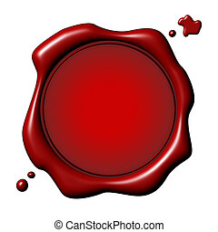 Customizable Seal - Customizable red seal with drops over...
