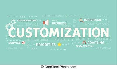 Customization concept illustration. Idea of business,...