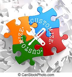 Customize Concept on Multicolor Puzzle.