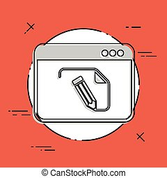 Customized document project - Vector flat icon